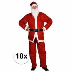 10x goedkoope santa run kerstman outfits carnaval volwassenen