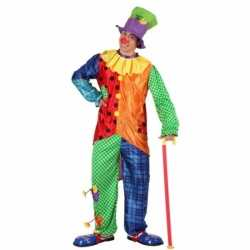 3 delig clown outfit carnaval mannen