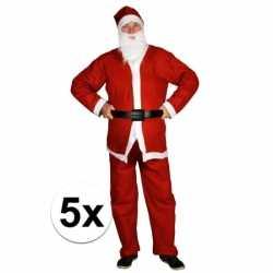 5x goedkoope santa run kerstman outfits carnaval volwassenen