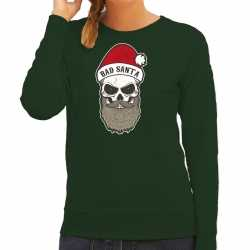 Bad santa foute kerstsweater / outfit groen carnaval dames