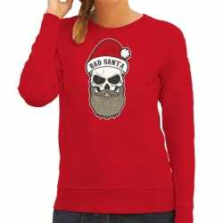 Bad santa foute kerstsweater / outfit rood carnaval dames