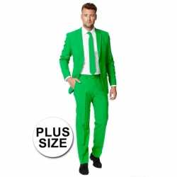 Big size heren outfit groen
