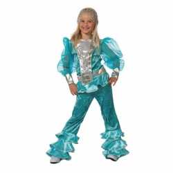 Blauw Abba outfit carnaval kinderen