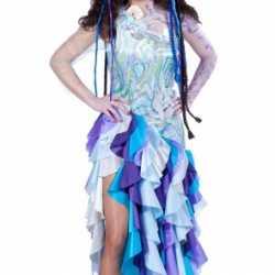 Blauwe prinsesde zee outfit