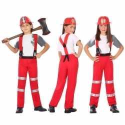 Brandweer pak / verkleed outfit carnaval jongensmeisjes