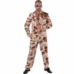 Camouflage outfit 3-delig carnaval heren