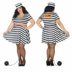 Carnaval carnaval/feest boeven/gevangenen bonnie verkleedoutfit jurkj