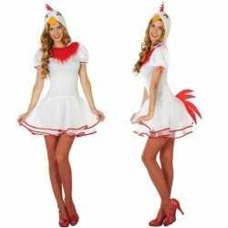 Carnaval dieren outfit kip carnaval dames