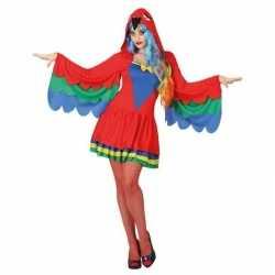 Carnaval dieren outfit papegaai carnaval dames