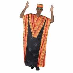 Carnaval/feest afrikaanse kaftan/jurk verkleedoutfit carnaval heren