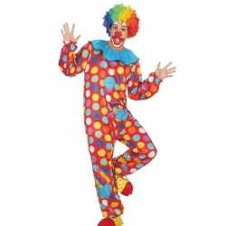 Carnaval/feest clown verkleed outfit carnaval heren