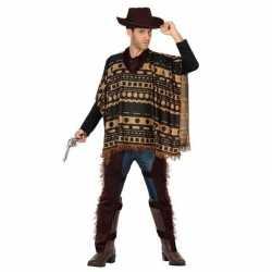 Carnaval/feest cowboy verkleedoutfit bruin carnaval heren