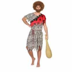 Carnaval/feest holbewoner thag oertijd verkleedoutfit carnaval heren