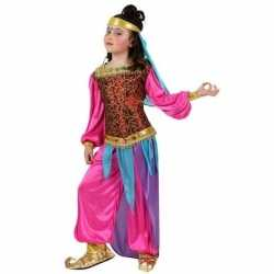Carnaval/feest kleding 1001 nachten outfits suheda roze/blauw carnava