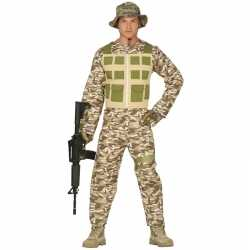 Carnaval/feest leger soldaten/militairen verkleed outfit carnaval her