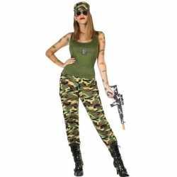 Carnaval/feest soldaten/militairen verkleed outfit carnaval dames