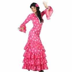 Carnaval/feest spaanse flamenco danseressen verkleedoutfit carnaval d