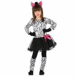 Carnaval/feest zebra verkleed outfit carnaval meisjes