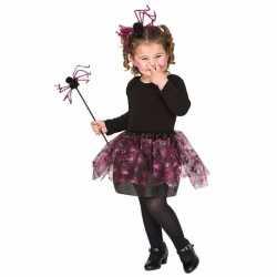 Carnavals outfit roze spinnen heksen set carnaval meisjes