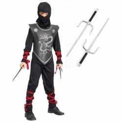 Carnavalskleding ninja outfitdolkenset maat l carnaval kinderen