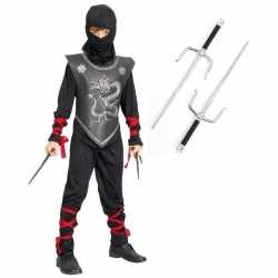 Carnavalskleding ninja outfitdolkenset maat s carnaval kinderen