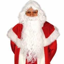 Carnavalsoutfit accessoire kerstman baardpruik set