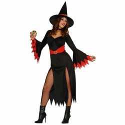 Carnavalsoutfit heksen jurk carnaval dames