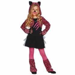 Carnavalsoutfit katten jurkje kinderen