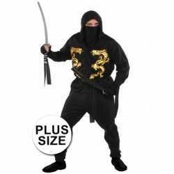 Carnavalsoutfit ninja carnaval heren xxl