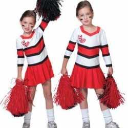 Cheerleader jurkjes roodwit