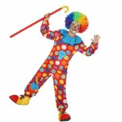 Clowns verkleedoutfit dots carnaval kinderen