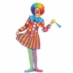 Clowns verkleedoutfit dotty carnaval meisjes