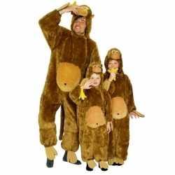 Dierenoutfit aap pluche carnaval jongensmeiden