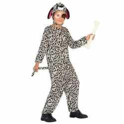 Dierenpak hond/honden verkleed outfit dalmatier carnaval kinderen