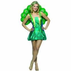 Dierenpak pauwen outfit carnaval dames