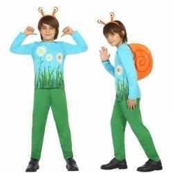 Dierenpak slak/slakken verkleed outfit carnaval jongens