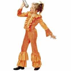 Disco outfit carnaval meisjes oranje