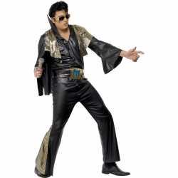 Elvis heren outfit zwart/goud