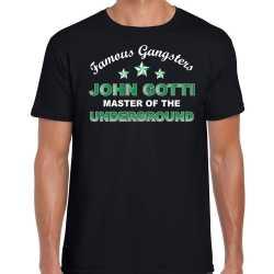 Famous gangsters john gotti tekst verkleed t shirt / outfit zwart heren