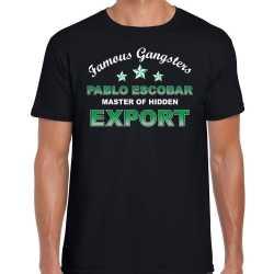 Famous gangsters pablo escobar tekst t shirt / outfit zwart heren