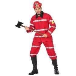 Feest/carnaval brandweermannen verkleedoutfit carnaval heren