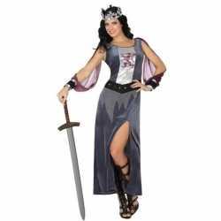 Feest/carnaval middeleeuwse ridder/koningin victoria verkleedoutfit j