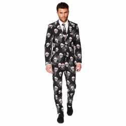 Feest outfit doodshoofden print