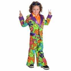 Gekleurd hippie pak carnaval jongens