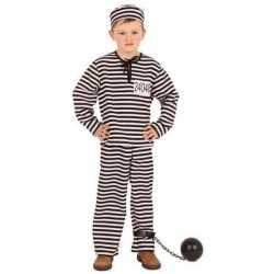Gestreept gevangene outfit kinderen