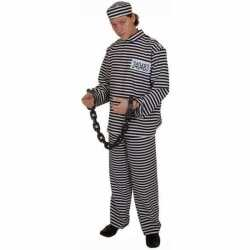 Gestreept gevangene outfit volwassene