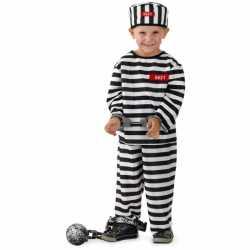 Gevangene outfit carnaval jongens