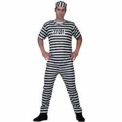 Gevangenen outfit carnaval mannen