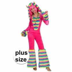 Grote maat carnavalsoutfit fantasie monster carnaval dames