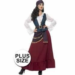 Grote maat dames piraat outfit